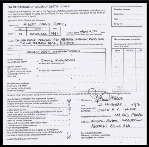GREIG, Robert David (Roy) DEATH CERT 01